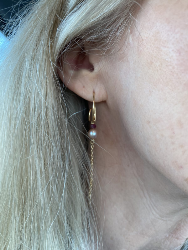 Bohemian øreringe 18K guld